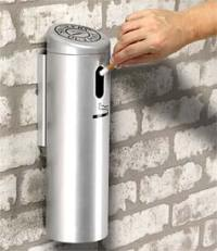 Wall Mounted Cigarette Receptacle | Metal | Cigarette ...