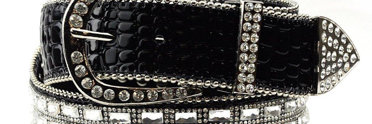 Rectangular Studded Belt