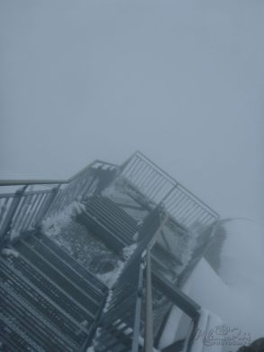 frozen stairs into the clouds