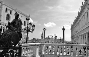 The Lion of Venice on the eastern column,