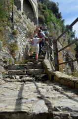 very steep steps