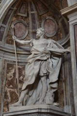 St. Longinus holding the spear that pierced the side of Jesus, by Bernini (1639)