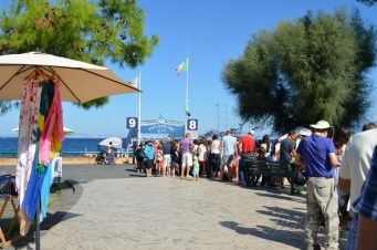 Waiting for the ferry to Capri