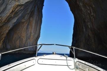 our turn to go through the Capri Faraglioni