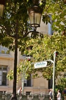 Hector Guimard's original Art Nouveau entrance of the Paris Métro