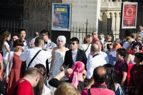 Lots of weird wedding in Paris