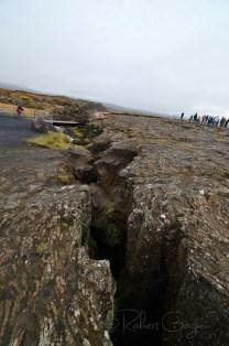 deep fissures at Þingvellir national park
