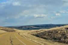 gretting closer to the Alberta badlands
