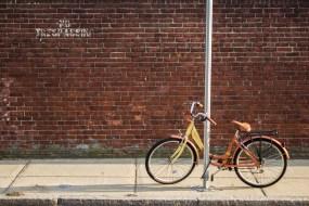 En chemin, je n'ai pas pu m'empêcher de prendre une photo de ce vélo.