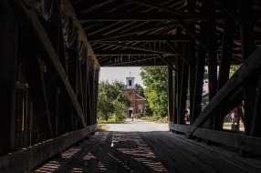 Covered bridge at the Shelburne Museum, Vermont