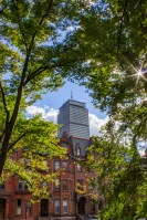 Prudential Tower viewed from Commonwealth Avenue in Boston