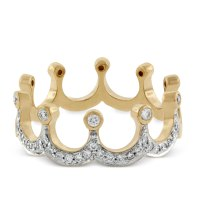 Diamond Crown Ring in Yellow Gold 14K | Ben Bridge Jeweler
