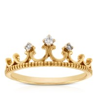 Diamond Crown Ring 14K | Ben Bridge Jeweler