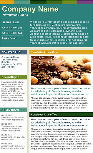 Benchmark Email  Email Template - Company Newsletter (Big Header)