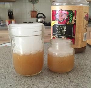 Dry Ice Apple Juice