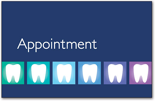 Dental Appointment Cards Benco