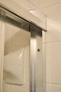 Removing a Sliding Shower Door {My New Years Eve Fun ...