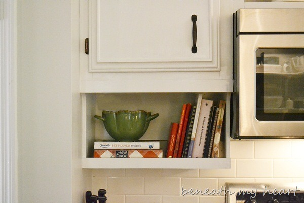 Our Diy Under The Cabinet Cook Book Holder Beneath My Heart
