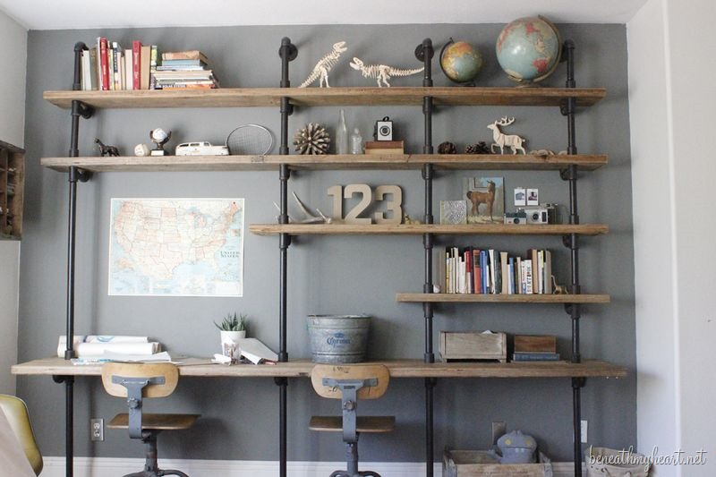 DIY Show Off Industrial shelving, Pipes and Industrial