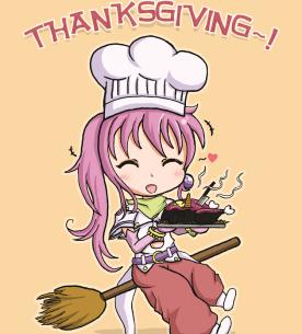 thanksgiving anime kawaii
