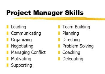 project management, project manager