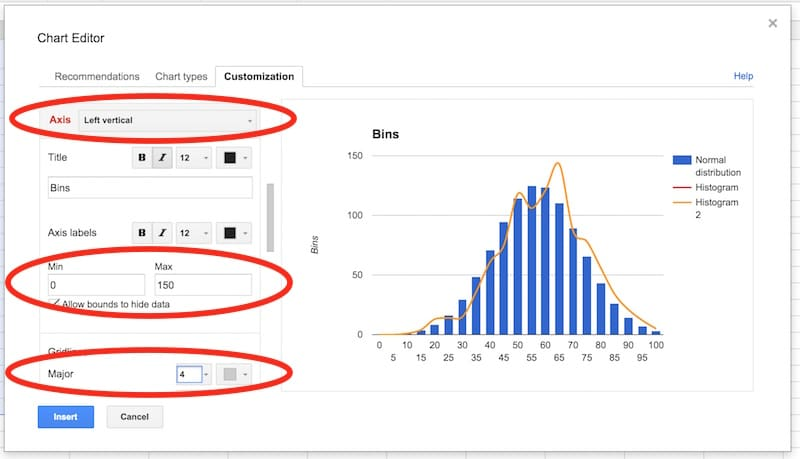 How to make a Histogram in Google Sheets, with Exam Scores Example