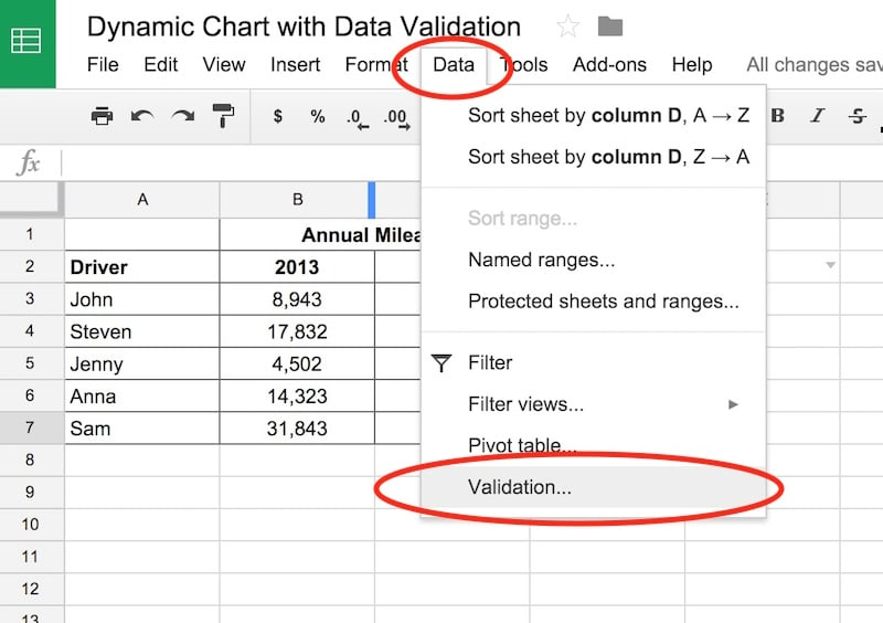 Step-by-step guide on how to create dynamic charts in Google Sheets