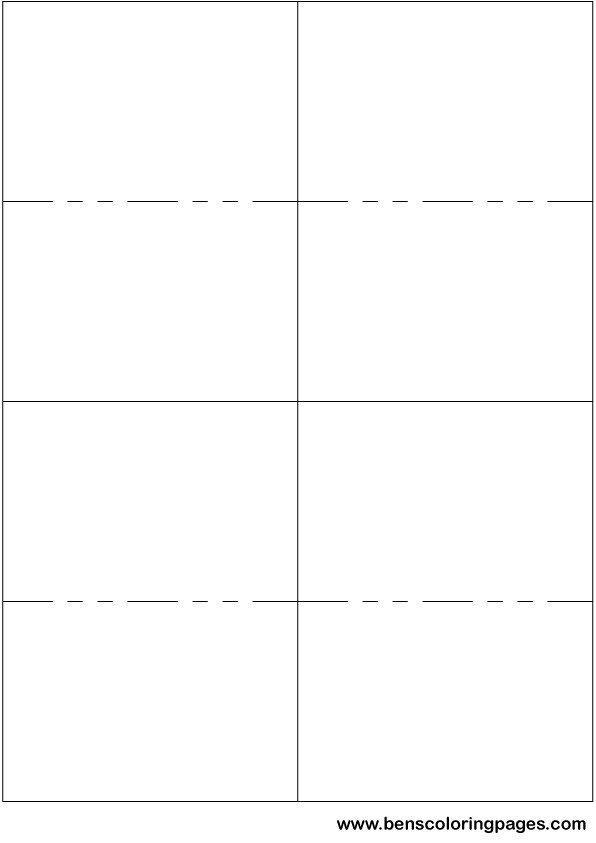 blank flash cards word template - flashcards template word
