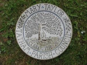 slip decorated commemorative plate