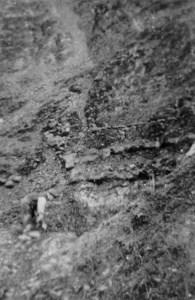 Richard Bateson digging clay.