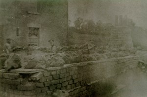 Clay drying on the clay pan walls at Waterside pottery.