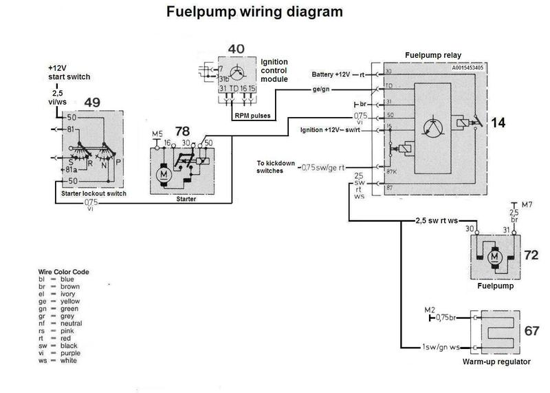 mercedes fuel pump relay
