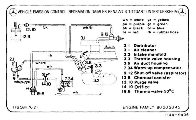 1980 MB 450SL vacuum and emission - Page 2 - Mercedes-Benz Forum