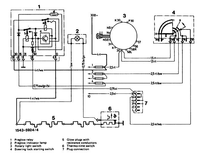 home mercedes om617 ignition schematic