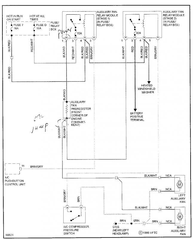 mercedes cooling fan wiring diagram