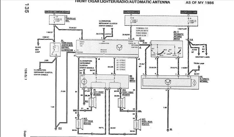 86 560sec Stereo wiring question, with pic - Mercedes-Benz Forum