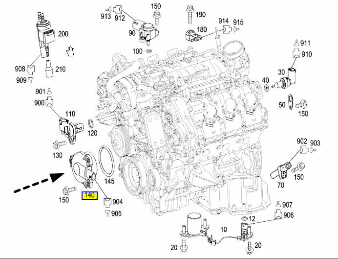 2006 c230 fuel filter location