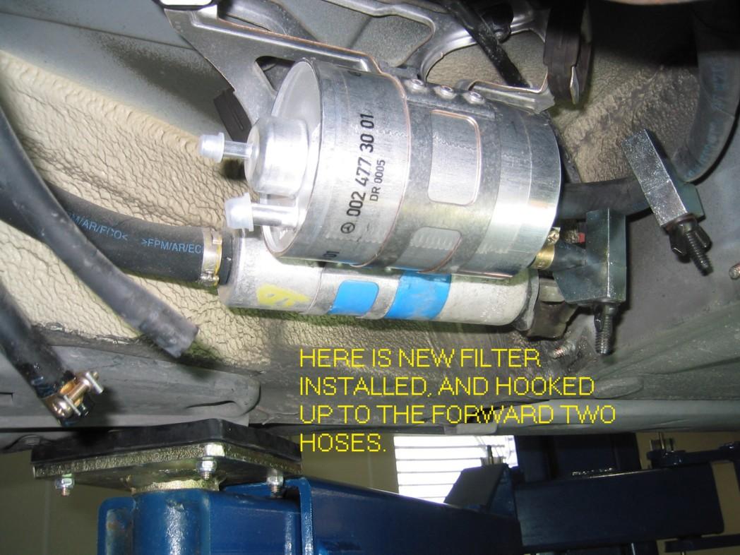 e350 fuel filter location