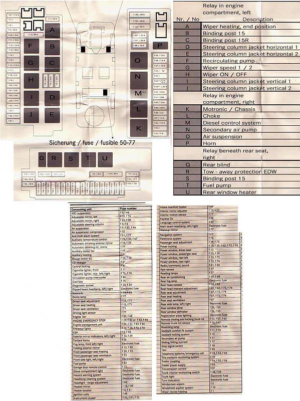 2000 S430 Fuse Diagram Wiring Diagrams