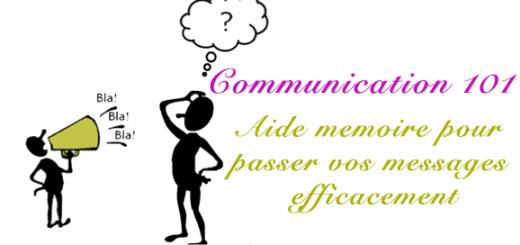 Communication-101, aide memoire