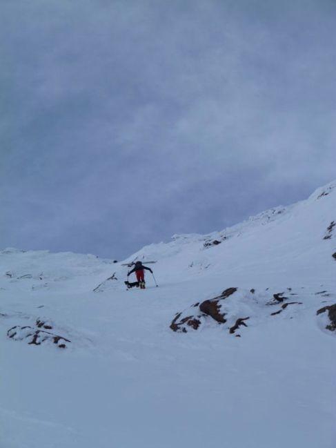 Steilstück vor dem Gipfel