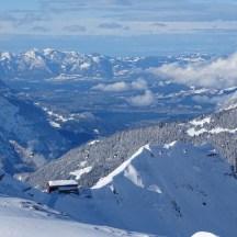 Kreuzjoch, Blick auf Wormser Hütte