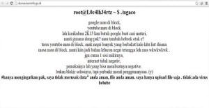 Hacker meretas website Kominfo, untuk curhat