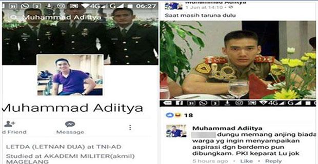 Ini fakta sebenarnya Facebook perwira TNI yang hina Jokowi