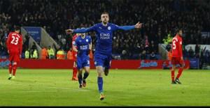 Leicester City Menang Atas Liverpool 3-1, Vardy 2 Gol