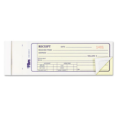 Tops Business Forms FORM, MONEY RECEIPT BOOK, WE, Each