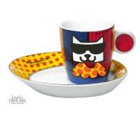 """Britto Espresso Cup Set """"La Cat"""" Goebel ArtisOrbis Webshop"""