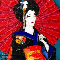 15 Ideas of Geisha Canvas Wall Art