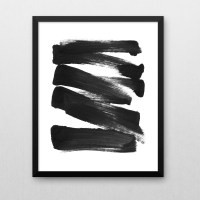 15 Ideas of Black And White Abstract Wall Art