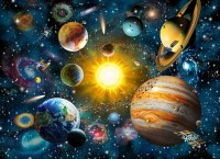 15 Inspirations of Solar System Wall Art